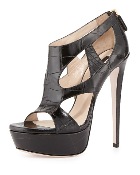 Zendaya Croc-Print Platform Sandal