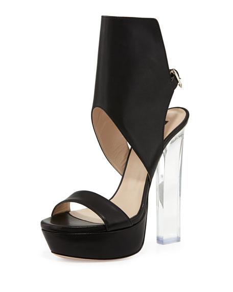 Joanne Acrylic-Heel Glove Sandal