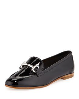 Salvatore Ferragamo My Informal Patent Gancini Loafer, Nero