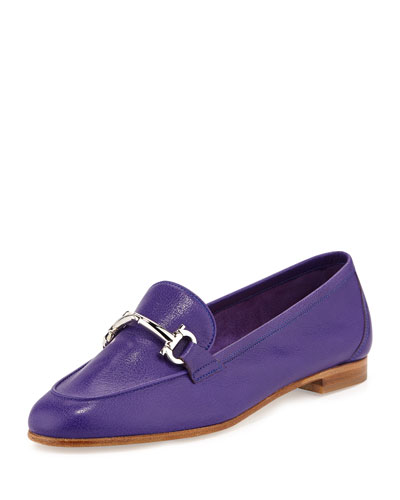 Salvatore Ferragamo My Informal Leather Gancini Loafer, Zaffiro Bright Blue
