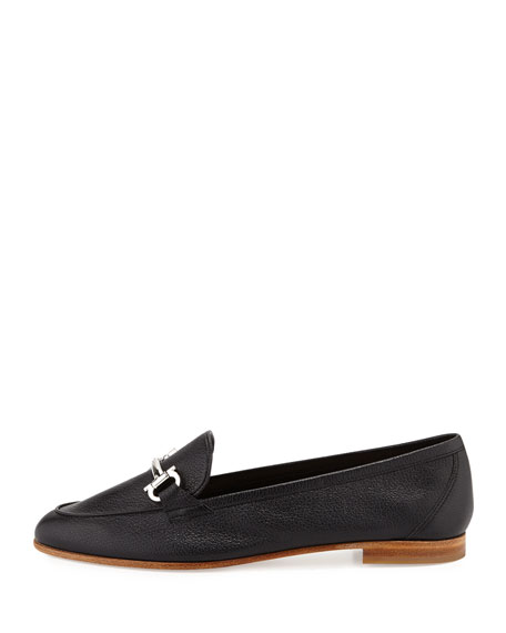My Informal Leather Gancini Loafer, Nero