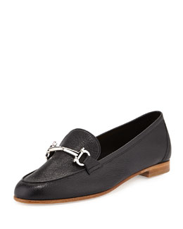 Salvatore Ferragamo My Informal Leather Gancini Loafer, Nero
