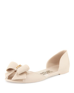 Salvatore Ferragamo Barbados Bow Jelly Flat, Pink
