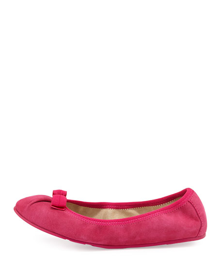 My Joy Suede Bow Ballerina Flat, Agata Rose