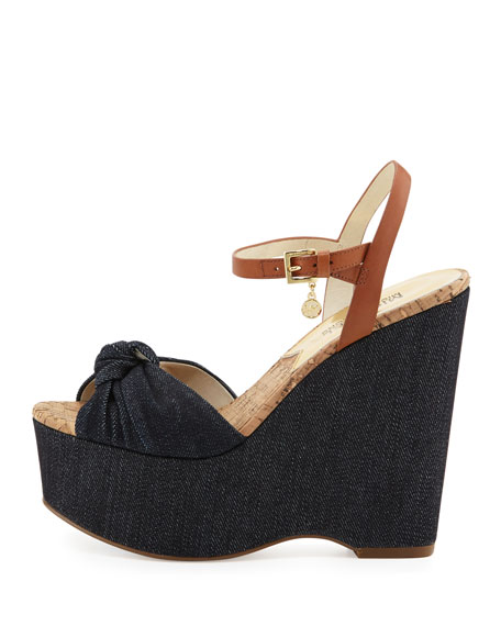 Benji Denim Platform Wedge