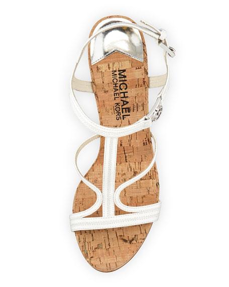 Cicely Wedge Sandal, White