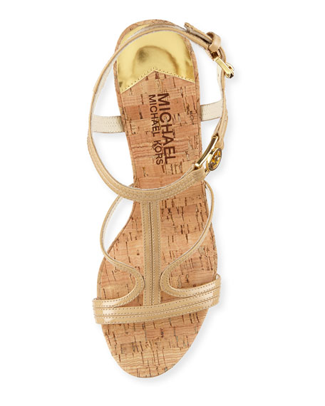 Cicely Wedge Sandal, Nude