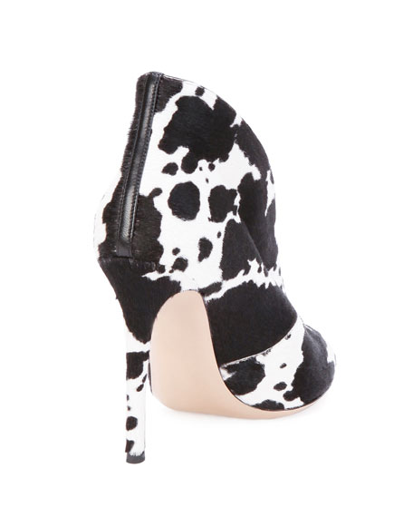 Spotted Calf Hair Split-Front Bootie