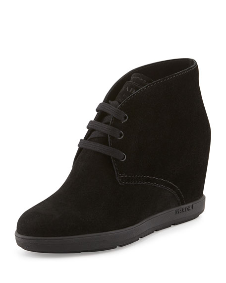 prada suede wedge desert boot