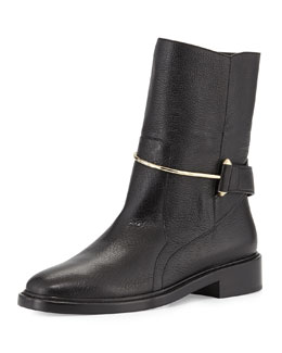 Balenciaga Metal-Bit Ankle Boot