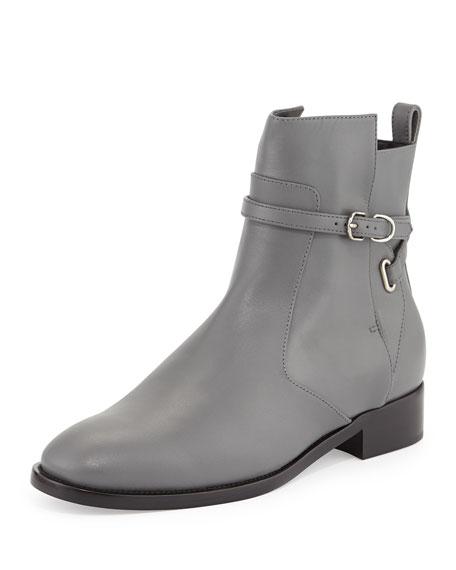 balenciaga ankle flat boot gris cendre