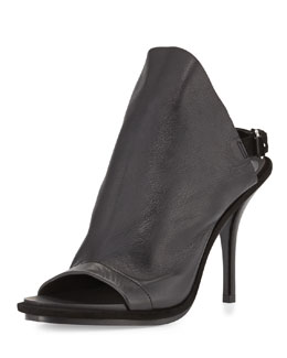 Balenciaga Leather Glove Sandal, Black
