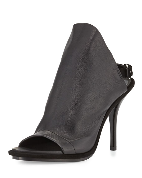 Leather Glove Sandal, Black