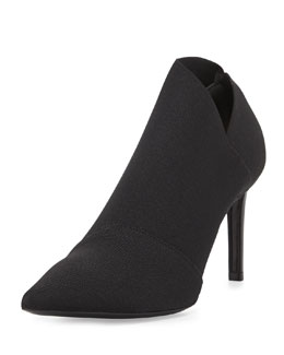 Balenciaga Stretch Point-Toe Bootie, Black