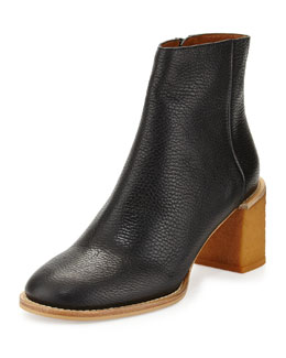 See by Chloe Keira Leather Ankle Boot