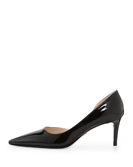 shopping discounts online 100% original for sale Prada Patent Leather Semi D'Orsay Pumps tpxRcQ