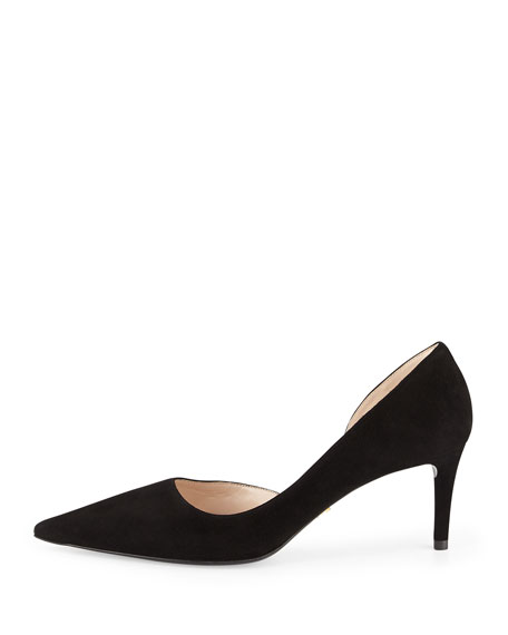 official site cheap price Prada Leather D'Orsay Pumps sale big discount free shipping largest supplier Nj2DxzW70
