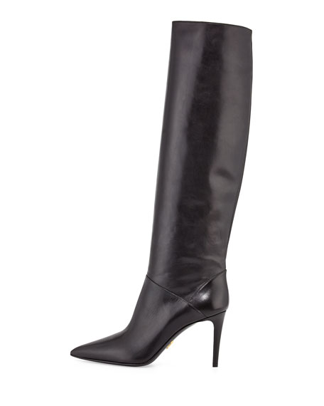 Prada Leather Boots 7rlhf