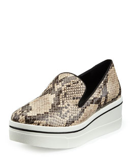 Stella McCartney Faux-Snake Thick-Sole Skate Shoe