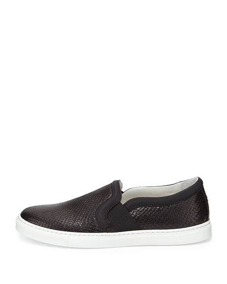 Python Slip-On Skate Sneaker, Black