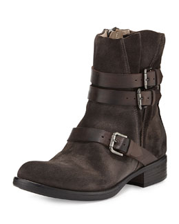 Alberto Fermani Triumvirate Suede Ankle Boot, Anthracite