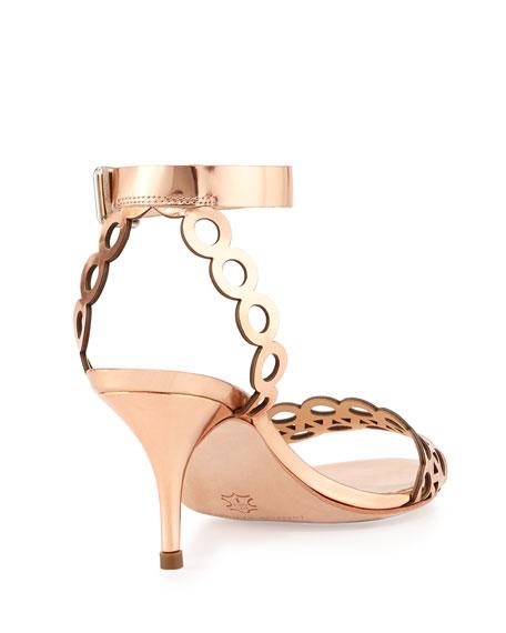 Opal Metallic Leather Sandal, Copper