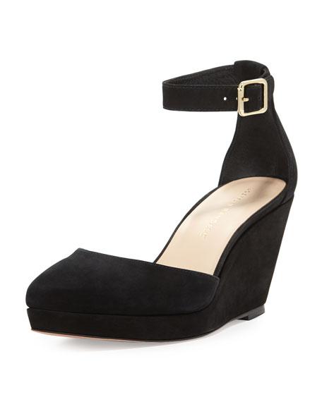 Jules Pointy-Toe Wedge, Black