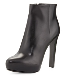 Prada High-Heel Leather Ankle Boot