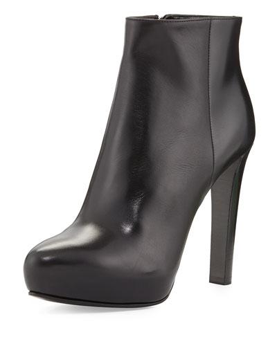 Prada High-Heel Leather Ankle Boot
