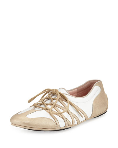 Candyce Lace-Up Sneaker, Beige