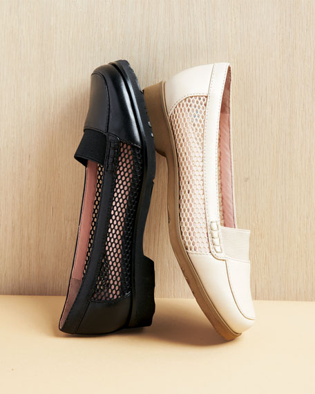 Jac Mesh and Leather Loafer, Sand
