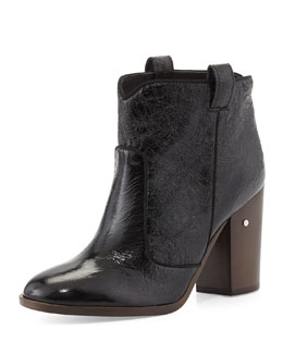Laurence Dacade Pete Crumpled Patent Ankle Boot