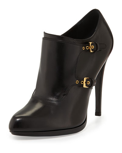 Tom Ford Double-Monk Ankle Bootie