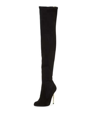 Tom Ford Zip-Back Over-the-Knee Boot