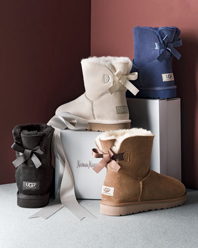 white uggs with bows