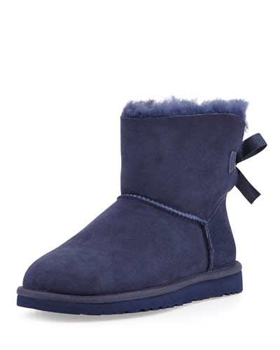 UGG Australia Mini Bailey Bow-Back Boot, Navy