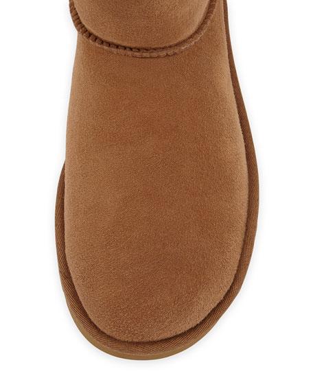 Mini Bailey Button Short Boot, Chestnut