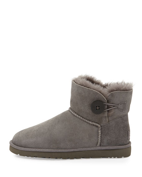 Bailey Button Short Boot, Gray