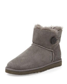 UGG Australia Bailey Button Short Boot, Gray