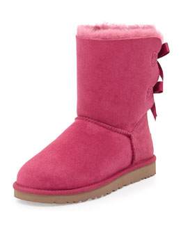 UGG Australia Bailey Bow-Back Short Boot, Victorian Pink