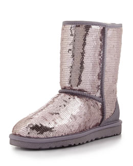 UGG Australia Sparkles Sequin Short Boot, Heathered Lilac