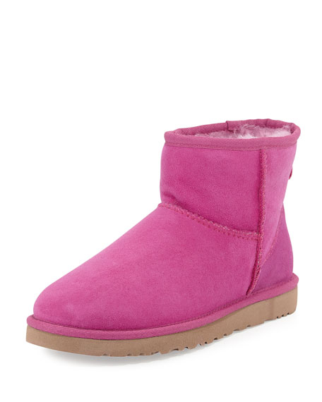 UGG Mini Classic Shearling Boot, Victorian Pink