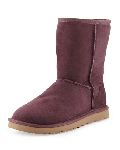 UGG Australia Monogrammed Classic Short Boot, Dark Purple