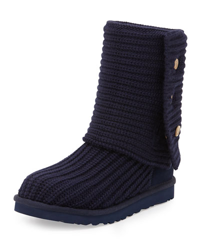 Classic Cardy Crochet Boot, Peacoat Navy