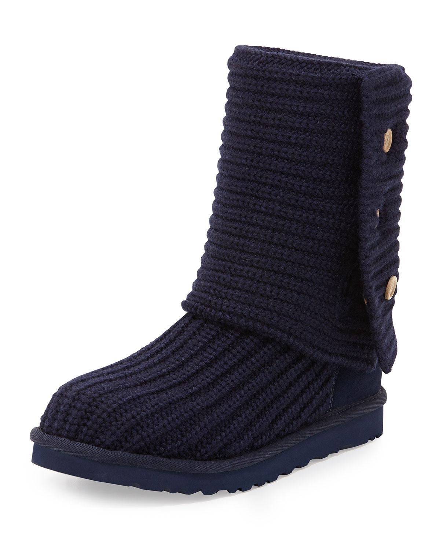 0c48b57e40f Classic Cardy Crochet Boot, Peacoat Navy