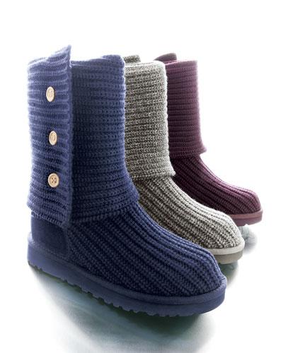 UGG Australia Classic Cardy Crochet Boot, Port