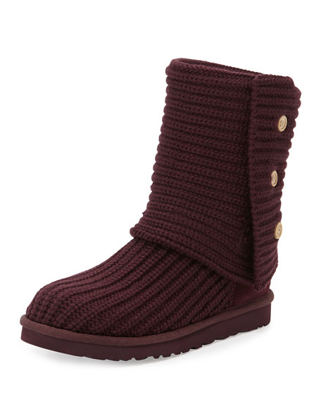 Classic Cardy Crochet Boot, Port