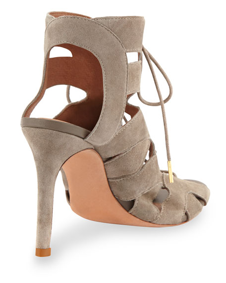 Bonnie Suede Lace-Up Sandal