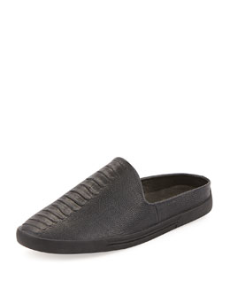 Joie Drea Croc-Embossed Slide, Black
