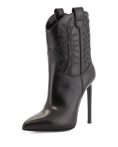 Saint Laurent High-Heel Western Boot